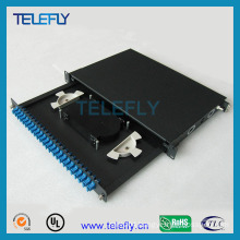 6ports to 384ports Fiber Optic Patch Panel, 19inch Rackmount Chassis