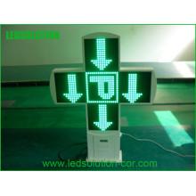 Duplo lado LED Farmácia Cruz sinal ao ar livre