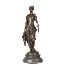 Weibliche Sammlung Bronze Skulptur Nackte Frau Home Decor Messing Statue TPE-843