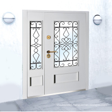 Custom Color Hot Mother and Son Door House Gate Grill Designs with Wrought Iron Branch Steel Doors Security Doors Swing Modern