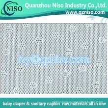 Matérias primas do guardanapo sanitário perfurada PE Film fornecedor (LS-Y102)