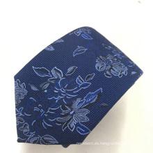 Alta visibilidad Jacquard floral último diseño para hombre corbatas