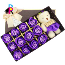 Heißes kundenspezifisches einzelnes wasserdichtes Luxusgeschenkpapierdekorationsquadrat-Blumenkasten
