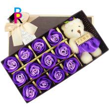 Caja de lujo de la flor del cuadrado de la decoración del papel del regalo de encargo de las ventas calientes solo personalizado