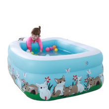 Rectangular Swimming Pool for Toddlers, Kids, Family, Above Ground, Backyard, Outdoor Inflatable Family Kiddie Pools