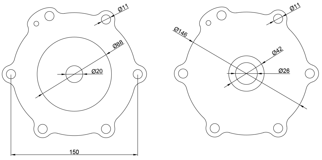 M50+M25 Diaphragm Kit For 2'' Turbo Pulse Valve