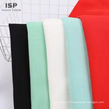 Tissu 100% rayonne filé teint flammé teint de haute qualité