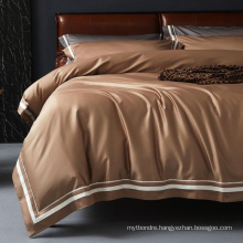 Wholesale Twin Bed Comfortable Bedding Set Modern Design Match Color