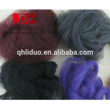 100% dyed wool fiber 19.5-26.5mic with any dyed colors