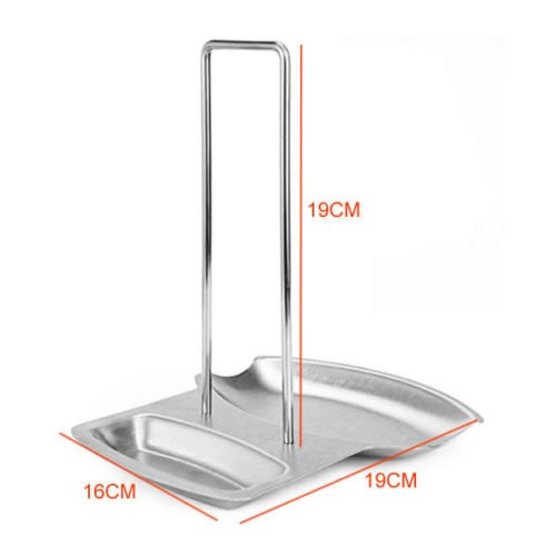 Stainless Steel Spoon And Lid Rest Stand 2