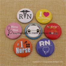 Grossiste Cheap Custom Metal Nurse Badge Button Pins