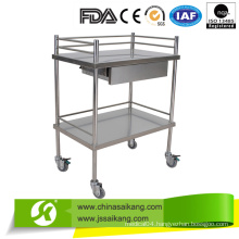 Stainless Steel Hospital Carts Treatment Trolley (CE/FDA/ISO)