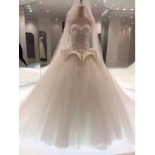 Floor Length Sweetheart Marriage Wedding Dress with Special Design on Waist