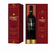 Embalagem de papel caixa de presente de embalagem de vinho vermelho
