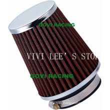90 mm Red Air Filter 76mm Universal for Car Intake Pipe