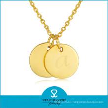 10 ans de bijoux fabricant argent plaqué or pendentifs (N-0301)