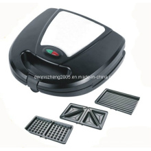 Sandwich Maker with Detachable Plate, 3 in 1 Sandwich Panini and Waffle Press with 3 Sets of Detachable Heating Plates