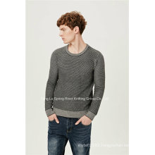 Special Pattern Round Neck Fit Knit Men Sweater
