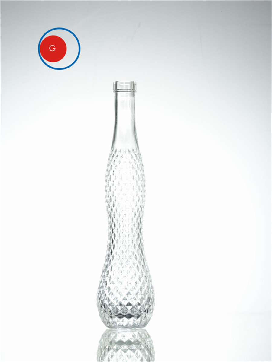 Crystalline Diamon Glass Bottle