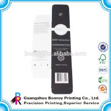 El mejor precio Matt de la fábrica de China plastificó el empaquetado de la caja negra de alta calidad