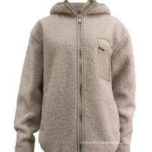 Good Quality Winter Fashion Trending New Style Custom Plus Size Warm Sherpa Jacket