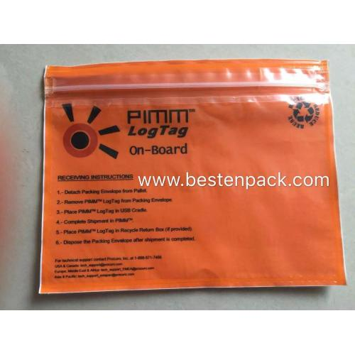 PMMI Zipper Adhesive Bag Gelb Film-1