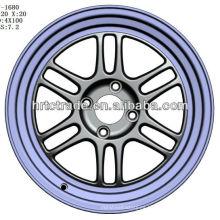 15 pulgadas hermosa 4/6/8 agujero 114.3mm réplica de la rueda de coche deportivo