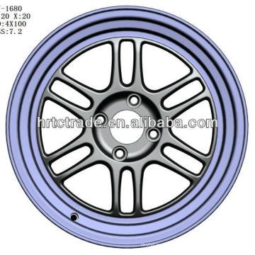 15 polegadas bela 4/6/8 buraco 114.3mm réplica carro esporte roda