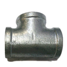 Equal Banded Galvanized Malleable Iron Pipe Fitting Tee