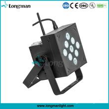 Indoor 9X10W Wireless + Batterie LED PAR Licht