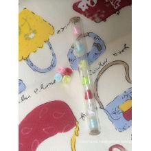 Botella de cristal transparente Tubular de 1,4 ml para Perfume muestras paquete