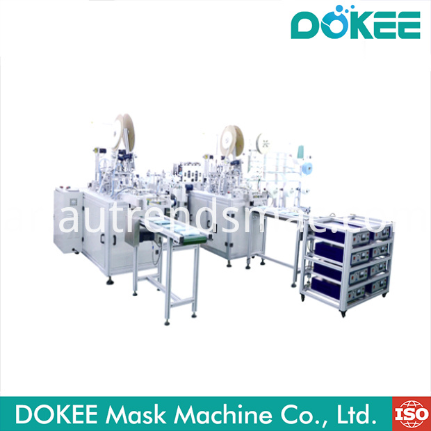 New Flat face mask machine production line