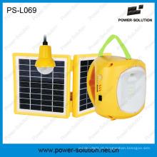 Lanterna de energia solar de bateria de chumbo-ácido com carregamento móvel USB