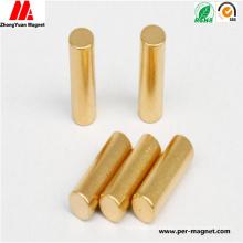 Compeittive Cylindrical NdFeB Neodymium Magnet with Au Coating