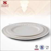 china manufacturers ceramic round plate for hotel porcelain dinner plate