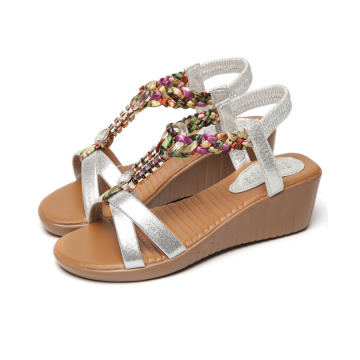 Kvinnors Beach Wedge Heel Sandals