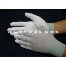 ESD Carbon Fiber PU Palm Fit Antistatic Glove