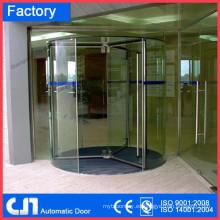Puerta giratoria manual abierta de mano de vidrio templado