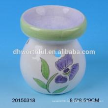 Home decoración simple quemador de aceite de cerámica