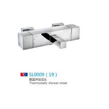 Mezclador termostático cromado de la ducha del cuarto de baño fijado en venta caliente