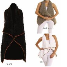 Gilet Crème Monogramme / Crème Faux Fur (10122)