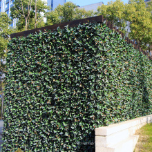 12 pieces 50 x 50 cm outdoor pvc coated anti-uv artificial living plant wall for cover unsightly