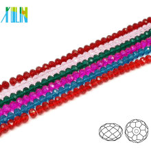 A5040 # -2 YIWU Manufaktur Glas Spezielle Farbe Perlen Schmuck Facettierte Kristall Rondelle Perlen