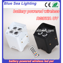 Factory price 4*18W 6in1 small size battery led par light