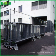 Hot dipped galvanized pedestrian metal traffic crowd control portable mobile barrier