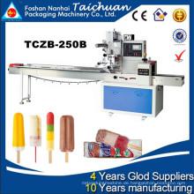 40-230bag / min Hochgeschwindigkeits-vollautomatische horizontale Eiscreme / Eis-Lutscher-Verpackungsmaschine TCZB-250B