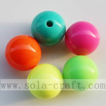 Multi Fluorescent Solid Opaque Jewelry Acrylic Bead