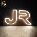 led outdoor acrílico led letras acesas