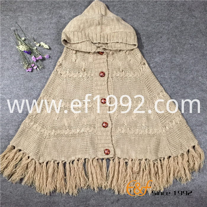 Spring Autumn Sweater Cape