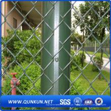 Galvanizado PVC Coated Security Chain Link Fence Withg Preço de Fábrica